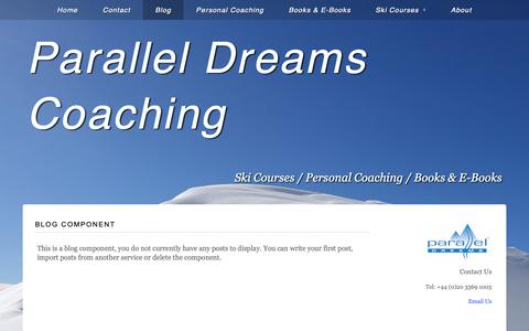 Screenshot of Blog paralleldreams.co.uk - Blog | Parallel Dreams Coaching - captured Sept. 26, 2018