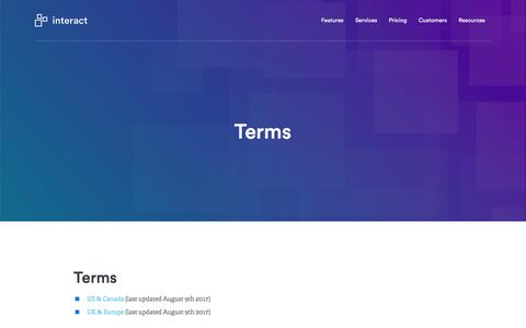 Terms | Interact software