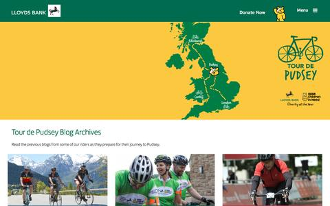 Screenshot of lloydsbank.com - Lloyds Bank - BBC Children in Need - Tour de Pudsey Blog Archive - captured July 22, 2016