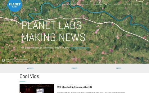Screenshot of Press Page planet.com - Press - Planet Labs - captured Nov. 10, 2015