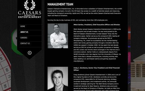 Screenshot of Team Page caesarsinteractive.com - Management Team «  CaesarsInteractive.com - captured Oct. 1, 2014