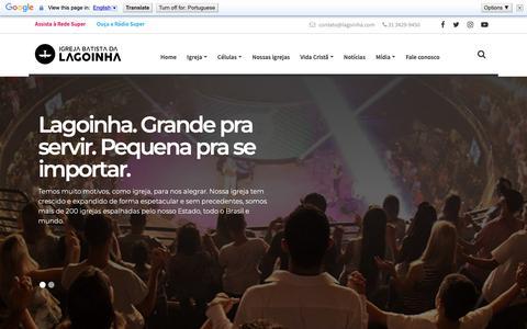 Screenshot of Home Page lagoinha.com - Lagoinha - Portal com assuntos diversificados voltados para a família. - captured Oct. 11, 2018