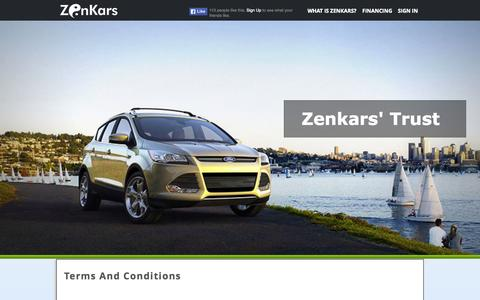 Screenshot of Terms Page zenkars.com - Zenkars - captured Nov. 5, 2014