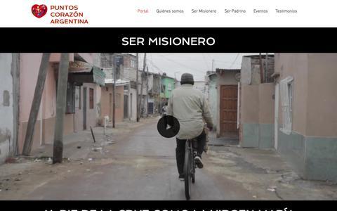 Screenshot of Home Page puntoscorazon.org.ar - Misión Al Extranjero | Argentina | Puntos Corazón - captured Oct. 25, 2018