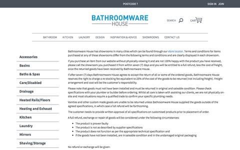 TERMS & CONDITIONS | Bathroomware House