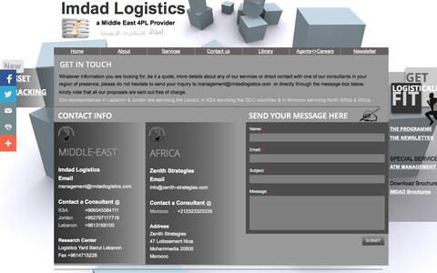 Screenshot of Privacy Page Contact Page imdadlogistics.org - Contact Imdad Logistics 4PL - captured Oct. 23, 2014