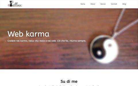 Screenshot of Home Page lallinx.com - Lallinx | Web Karma - captured Sept. 24, 2014