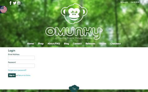 Screenshot of Login Page omunky.com - OMUNKY - Account - captured Sept. 30, 2014