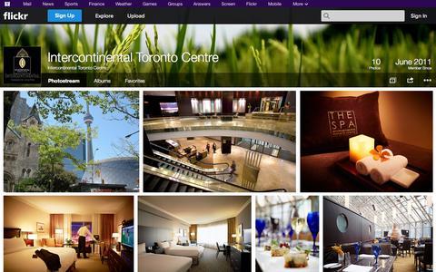 Screenshot of Flickr Page flickr.com - Flickr: Intercontinental Toronto Centre's Photostream - captured Oct. 23, 2014