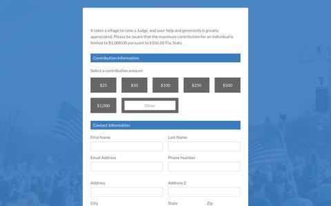 Screenshot of Landing Page raisethemoney.com - Gerald Wilkerson – Gerald L. Wilkerson for Circuit Judge - captured Nov. 2, 2016