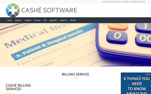 Screenshot of Services Page cashesoftware.com - Services | Cashé Software - captured July 16, 2018