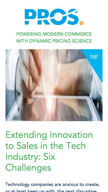Extending Innovation to Sales | PROS Resources | PROS