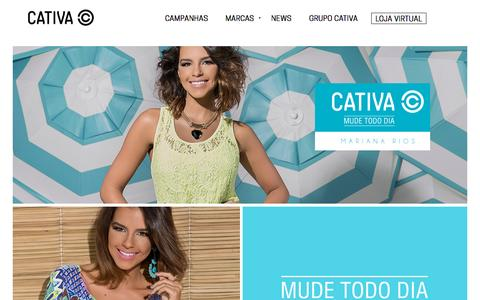 Screenshot of Home Page cativa.com.br - Cativa - captured Sept. 20, 2015