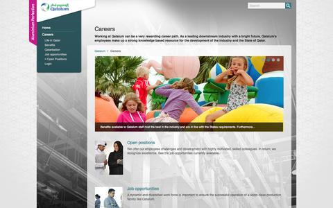 Screenshot of Jobs Page qatalum.com captured Oct. 2, 2014