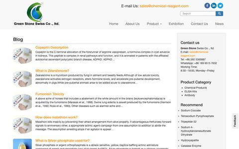 Screenshot of Blog chemical-reagent.com - The Chemical products,Chemical Reagent Blog - captured Oct. 30, 2018
