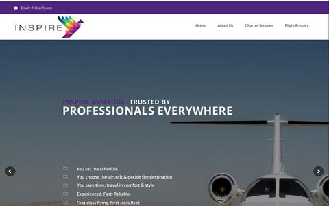 Screenshot of Home Page iacfly.com - Home - Inspire Aviation Charter - captured Feb. 4, 2016