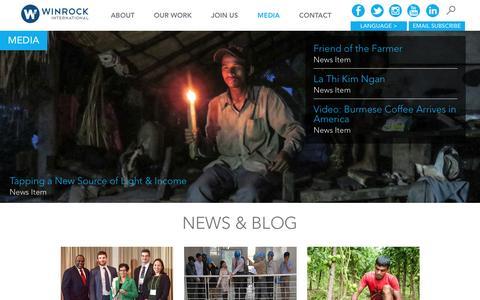 Screenshot of Press Page winrock.org - Winrock International  » Media - captured Dec. 22, 2016