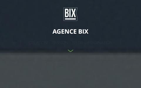 Screenshot of Home Page agencebix.com - Agence BIX - captured Sept. 30, 2014