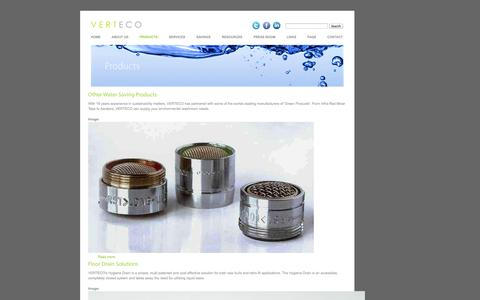 Screenshot of Products Page verteco.com - Products | verteco.com - captured Oct. 7, 2014