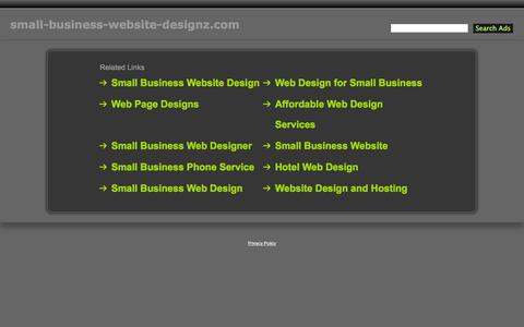 Screenshot of Home Page small-business-website-designz.com - Small-Business-Website-Designz.com - captured Jan. 28, 2015