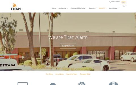 Screenshot of About Page titanalarm.net - About Us | Commercial and Residential Security Systems |Phoenix Buisness Alarms - captured Oct. 7, 2014