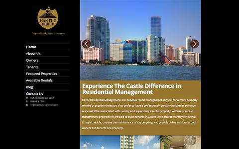 Screenshot of Home Page castlegrouprentals.com - Castle Residential | Fort Lauderdale, Boyton Beach, Miami, Broward, West Palm Beach | Home Page - captured Oct. 2, 2014