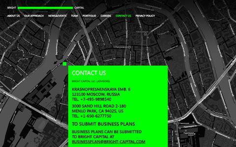 Screenshot of bright-capital.com - Contact us - Bright Capital - captured Oct. 5, 2015