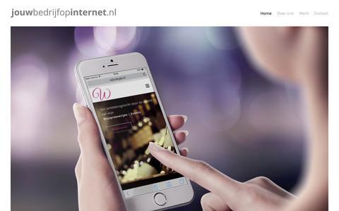 Screenshot of Home Page jouwbedrijfopinternet.nl - Jouwbedrijfopinternet - Ontwikkelt, ontwerpt & geeft vorm - captured Jan. 23, 2015