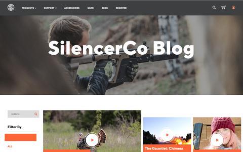 Screenshot of Blog silencerco.com - SilencerCo Blog - captured April 10, 2019