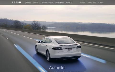 Screenshot of Home Page teslamotors.com - Tesla Motors | Premium Electric Vehicles - captured Feb. 23, 2016