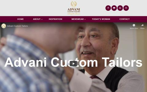Screenshot of About Page advanitailors.com.au - About Us - Advani Custom Tailors - captured Nov. 25, 2019