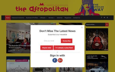 Screenshot of Home Page afropolitan.co.za - Afropolitan | Home - captured Feb. 21, 2018
