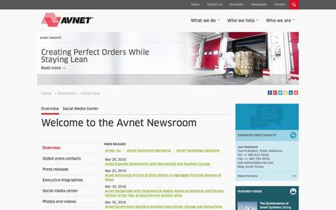 Avnet Newsroom | Technology & Business Insights  - Overview