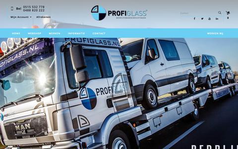 Screenshot of Home Page profiglass.nl - Profiglass - De specialist in dubbele cabines en ombouw naar grijs kenteken! - captured Sept. 30, 2018