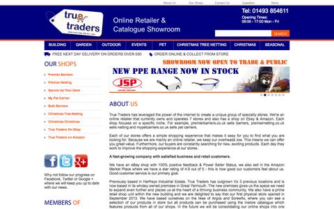 Screenshot of About Page truetraders.co.uk - True Traders Ltd - About Us - captured Oct. 3, 2014
