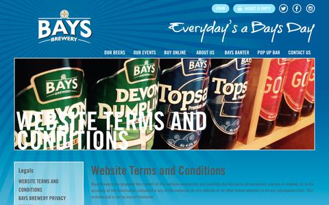 Screenshot of Terms Page baysbrewery.co.uk - Website Terms and Conditions - Bays Brewery - captured Nov. 6, 2018