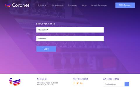 Screenshot of Login Page coranet.com - Login - Coranet - captured Sept. 29, 2018