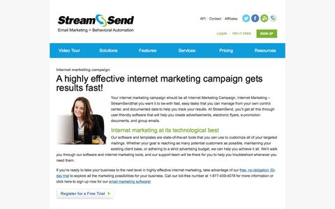 Internet Marketing Campaign, Internet Marketing - StreamSend