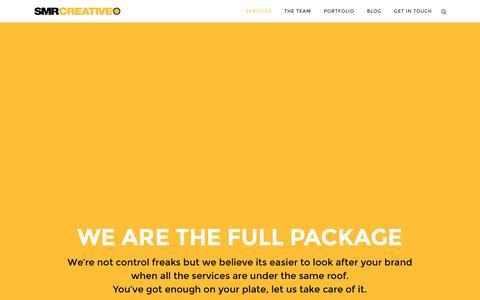 Screenshot of Services Page smrcreative.com - SMR Creative |   Services - captured Dec. 19, 2015