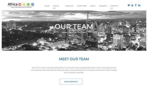 Screenshot of Team Page africa118.com - ​Infomoby - Africa118 - ​ - captured Oct. 3, 2018
