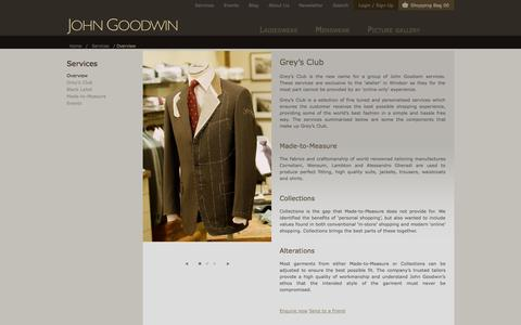 Screenshot of Services Page johngoodwin-online.com - Overview - captured Oct. 6, 2014