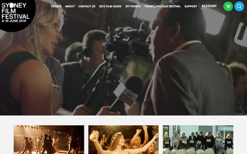 Screenshot of Home Page sff.org.au - Sydney Film Festival - captured Feb. 22, 2016