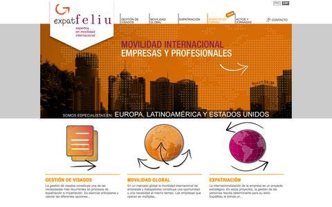 Screenshot of Home Page expatfeliu.com - EXPATFELIU - Expertos en movilidad internacional - captured Oct. 3, 2014