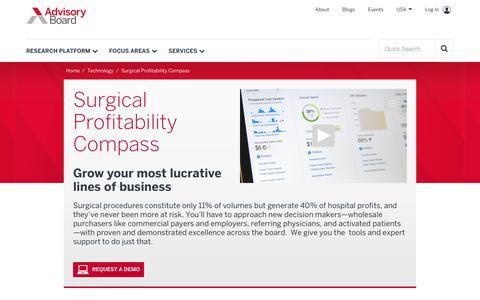 Surgical Profitability Compass—Surgery efficiency and growth | The Advisory Board Company