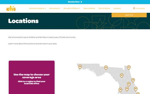 Screenshot of Locations Page chsfl.org - Locations | Children's Home Society of Florida - captured July 29, 2017