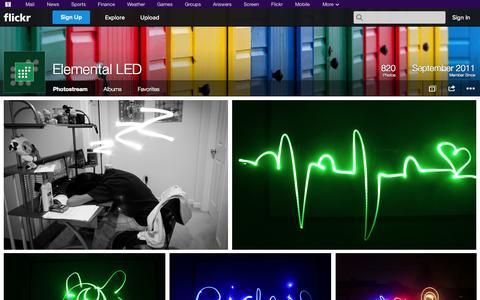 Screenshot of Flickr Page flickr.com - Flickr: Elemental LED's Photostream - captured Oct. 22, 2014