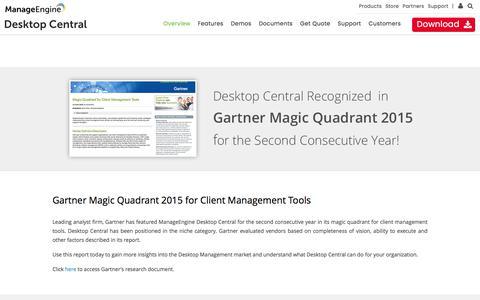 Gartner Magic Quadrant for Client Management Tools