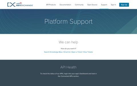 Support | Capital One DevExchange