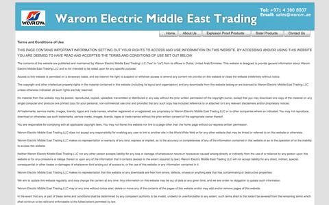 Screenshot of Terms Page warom.ae - Terms of Use - captured Oct. 26, 2014