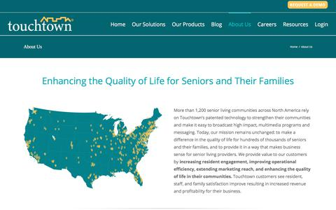 Screenshot of About Page touchtown.us - About Us | Touchtown Resident Engagement Solutions - captured Jan. 17, 2018